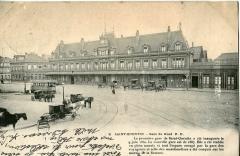 Gare - Français:   Carte postale ancienne éditée par P. D., n°9: SAINT-QUENTIN - Gare du Nord