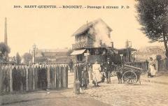 Gare - Français:   Le gare de Rocourt vers 1910.