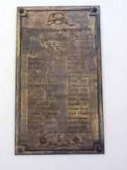 Gare - Français:   Saint-Quentin (Aisne) gare, plaque commémorative 1914-18