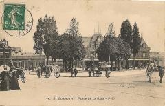 Gare - Français:   La gare de Saint-Quentin en 1911.