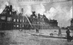 Gare - Français:   Incendie de la gare