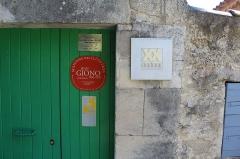 Maison de Jean Giono, dénommée Le Paraïs - Français:   Entrée de la maison «Le Paraïs», Manosque.
