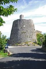 Château de Simiane - Deutsch: Chateau de Simiane-la-Rotonde, Ansicht des Dorfs von NW