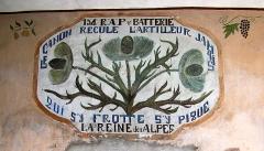 Fort de Tournoux - Français:   Fresque du fort de Tournoux attestant de présence du 154e RAP