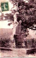 Monument à Clovis Hugues - Français:   Monument à Clovis Hugues à Ménerbes