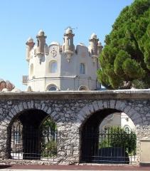 Château de l'Anglais - Français:   Détails du château de l\'anglais sur la colline du mont Boron à Nice.