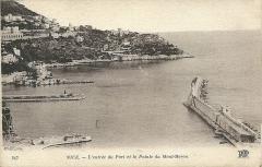 Château de l'Anglais - Français:   Nice - entrée du Port & Pointe du Mont-Boron - début du XXe siècle