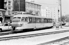 Ancienne gare du Sud -  Autorail Billard N° 212 des Chemins de fer de Provence (voie métrique) dans l'avant gare de Nice (