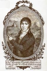 Pyramide - English: back cover of the book Domenico Rossetti e la grotta di monte Calvo di Pasquale Spadaccini