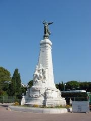 Monument du centenaire de la réunion à la France situé dans le jardin Albert Ier -  Monument commémoratif du rattachement de Nice à la France; Jardin Albert 1er, Nice, Provence-Alpes-Côte d'Azur, France
