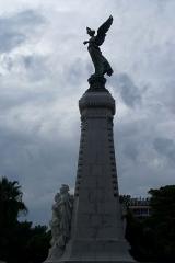 Monument du centenaire de la réunion à la France situé dans le jardin Albert Ier - English: Nice - Jardin Albert-1er - View West