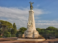 Monument du centenaire de la réunion à la France situé dans le jardin Albert Ier -  NICE 2009