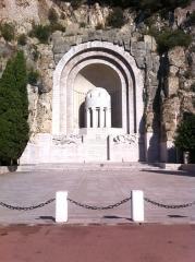 Monument aux morts de la guerre de 1914 - 1918 - Français:   Nice Le monument aux morts