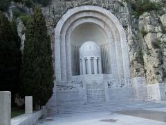 Monument aux morts de la guerre de 1914 - 1918 - English: Nice WW1 monument, Nice