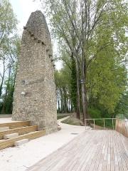 Bac à traille - Français:   un théatre face au fleuve, au pied de la pile du bac à traille (monument historique) pour découvrir le fleuve et sa flore
