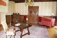 Château de Landreville - English: Saloon from ground floor of Landreville Castle, renovated in 2011.