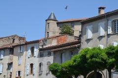 Ancien Hôtel Dieu, actuellement résidence Hector d'Ossun - Hôtel-Dieu, Saint-Lizier (Ariège, France).