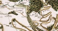 Ancienne abbaye - English: Portion of Cassini map showing the Montieramey abbey, Aube departement, Burgundy, France. The abbey is in the lower part of the picture, north-east of Montreuil (Montreuil-sur-Barse). It is spelled