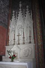 Canal du Midi - English:  The communion table of the Chapel of St. John the Baptist