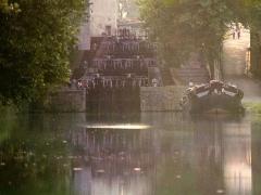 Canal du Midi - Deutsch: Canal du Midi: Vierfachschleuse St. Roche / Castelnaudary