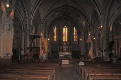 Vivier antique du lac des Capelles - English:  The nave of the church of bram.