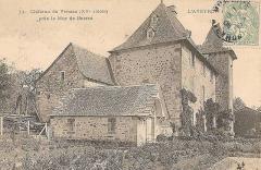 Site archéologique du dolmen 3 de Saint-Martin-du-Larzac - Château de Venzac, Mur-de-Barrez, Cantal, France. Carte postale oblitérée 1903.