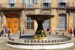 Immeubles formant la place d'Albertas - Deutsch: Place d'Albertas in Aix-en-Provence
