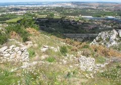 Oppidum de la Cloche - English: Eyesight to north plain