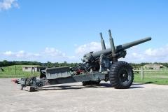 Batterie d'artillerie de Merville -  BL 5.5 inch Medium Gun. used to stand on the emplacements