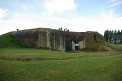 Batterie d'artillerie de Merville - English: Entrance of the blockhouse 1 of the Merville battery.