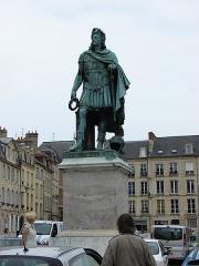 Statue de Louis XIV -  Louis XIV (1638 - 1715), Caen, Lower Normandy, France