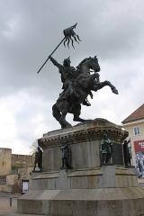 Statue de Guillaume le Conquérant -  Statue of Guillaume le Conquérant in Falaise
