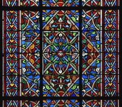 Eglise Saint-Martial - Français:   Motif du vitrail (1853) de la façade de l\'église Saint-Martial, Angoulême, Charente, France.