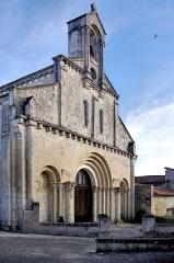 Eglise Saint-Jean-Baptiste - Français:   Façade de l\'église Saint-Jean-Baptiste, Ronsenac, Charente, France.