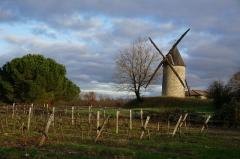 Moulin à vent de la Croix - Français:   vue du Moulin à vent de la Croix de Saint-Thomas-de-Conac.