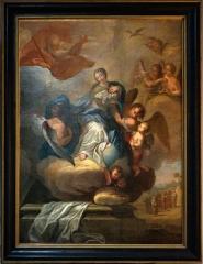 Ancien temple protestant, aujourd'hui église catholique Saint-Martin - Français:   Anges de l\'assomption peinture de P Vincent XVIII.