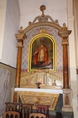 Ancien temple protestant, aujourd'hui église catholique Saint-Martin - Français:   Autel secondaire de l\'église Saint Martin de Pons.