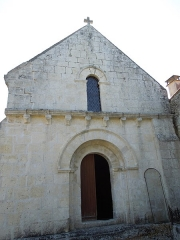 Eglise Saint-Pierre d'Antignac - English: Antignac: west facade of the village church Saint-Pierre