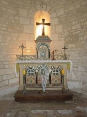 Eglise Saint-Pierre d'Antignac - English: Antignac, altar in the village church Saint-Pierre