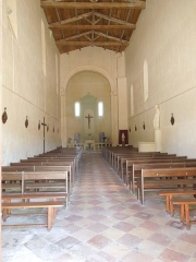 Eglise Saint-Martial - English: Saint-Martial-de-Vitaterne, village church, interior