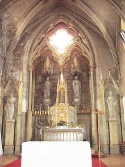Eglise paroissiale Saint-Gervais et Saint-Protais - English:   Jonzac, church Saint-Gervais-et-Saint-Protais, main altar
