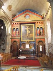 Eglise paroissiale Saint-Gervais et Saint-Protais - English:   Jonzac, church Saint-Gervais-et-Saint-Protais, southern aisle, altar