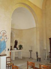 Eglise Saint-Christophe - English:   Villexavier, church Saint-Christophe, view into southern apse