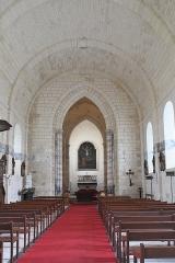 Eglise Saint-Pierre - Deutsch: Katholische Kirche Saint-Pierre in Soubise im Département Charente-Maritime (Nouvelle-Aquitaine/Frankreich), Innenraum