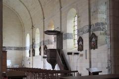 Eglise Saint-Pierre - Deutsch: Katholische Kirche Saint-Pierre in Soubise im Département Charente-Maritime (Nouvelle-Aquitaine/Frankreich), Trauerbänder (litres funéraires) an der Innenwand