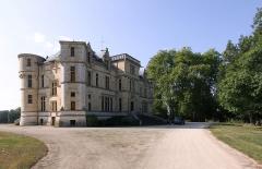 Château de la Brosse - Deutsch: Schloss La Brosse im französischen Départment Cher - Haupteingang