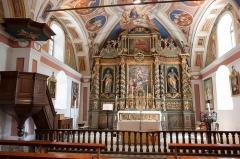 Château de la Brosse -  Intérieur de l'église Saint-Saturnin de Saint-Sorlin-d'Arves / Saint-Sorlin-d'Arves / Savoie / France