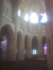 Ancienne abbaye - English: abbbatiale Saint-Guinefort  Saint satur: vue from choeur