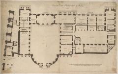 Ancien palais archiépiscopal, devenu Hôtel de ville - French drawer, cartographer, urban planner and architect father of Jean-Baptiste Bullet de Chamblain student of Jacques-François Blondel