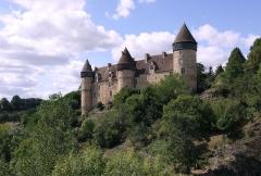 Eglise paroissiale Saint-Martial - Le château de Culan, en Berry. Façade orientale donnant sur le vallon de l'Arnon.